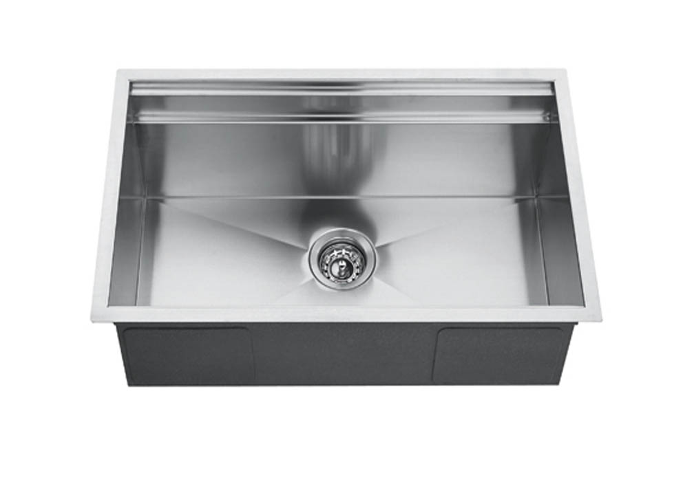 30 Inch X 18 Inch Undermount Single Bowl 18 Gauge Stainless Steel Kitchen Sink With Single Ledge And Zero Radius