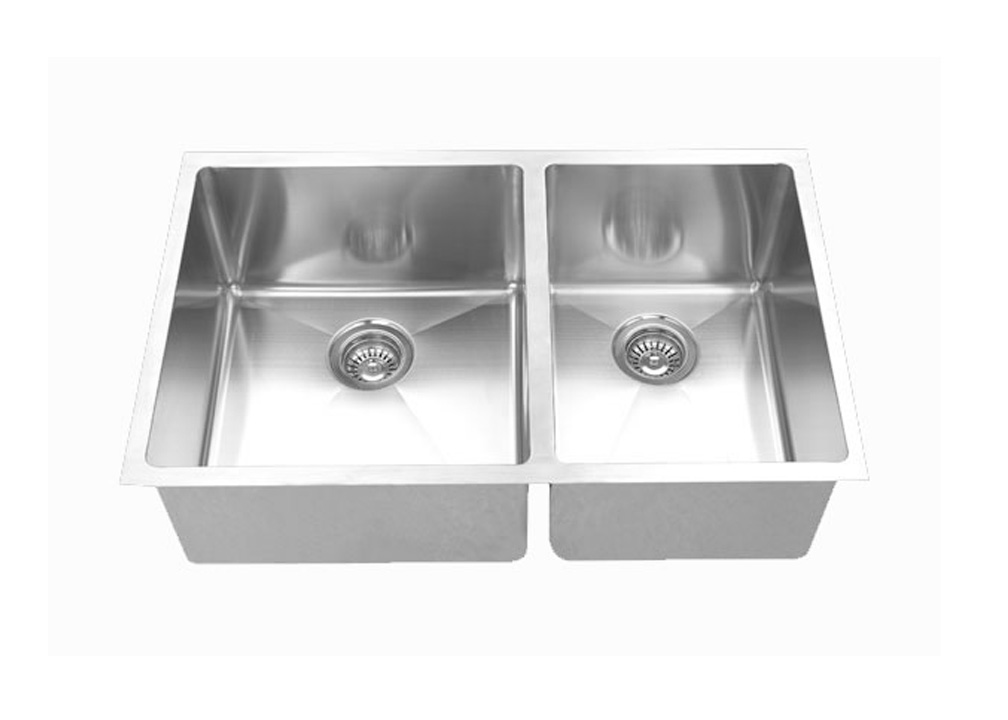 32 inch x 20 inch undermount 60 40 offset bowl 18 gauge - 18 inch kitchen sink ...