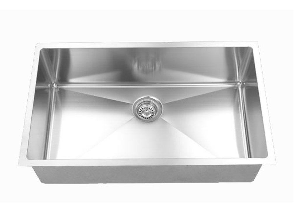 32 inch x 20 inch Undermount Single Bowl 18 Gauge Stainless Steel ...